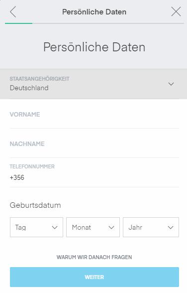 Trading212 Anmelde-Bildschirm