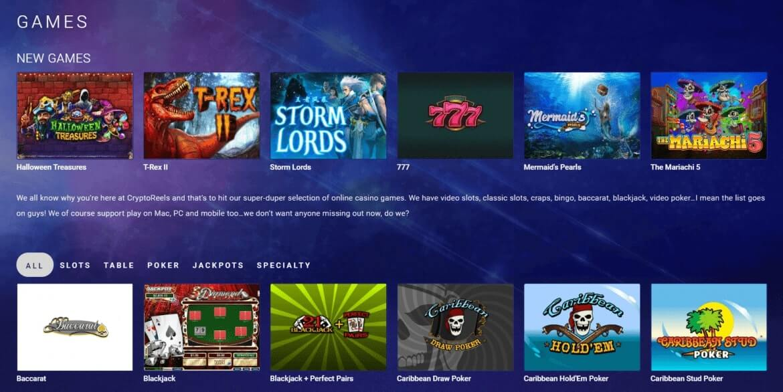 CryptoReels - Games' Lobby