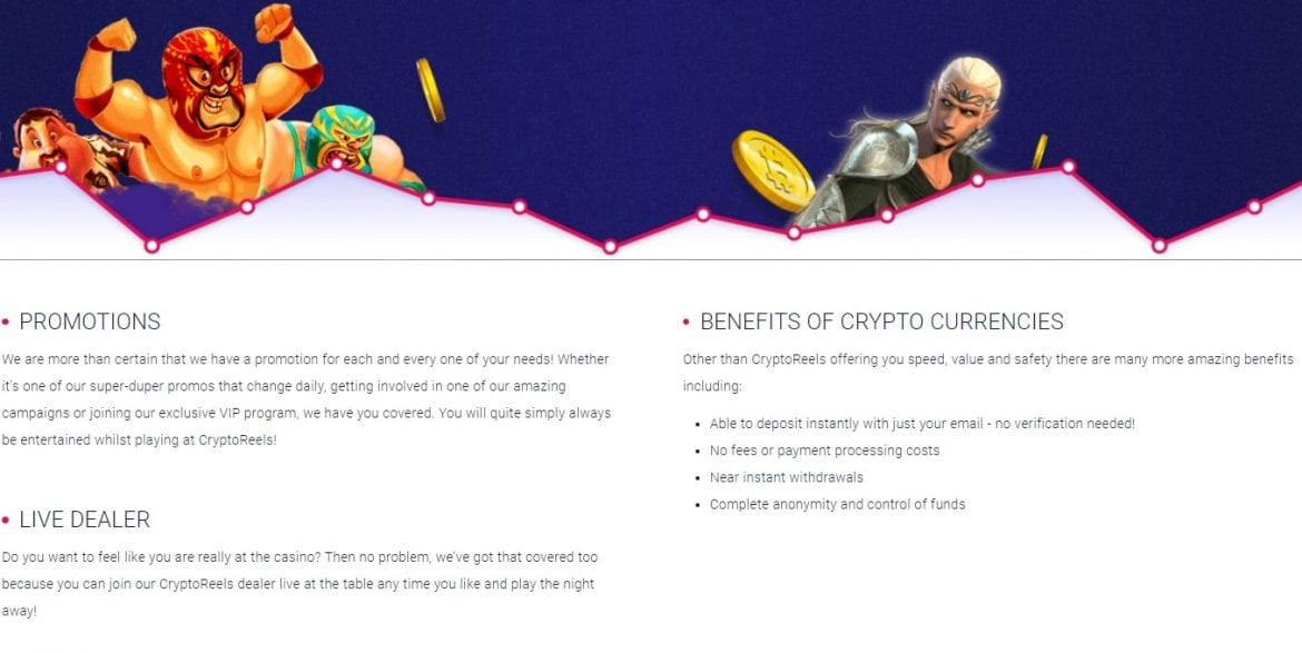 CryptoReels - Information Section