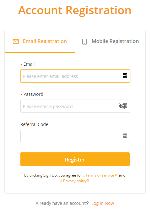 Create an account on Bybit