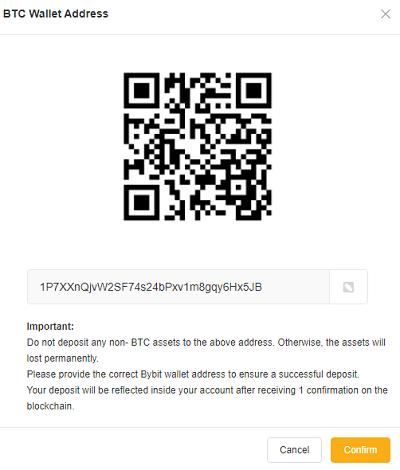 Bybit Deposit Coins
