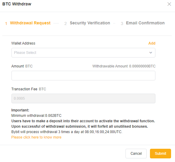 Bybit Withdraw Funds