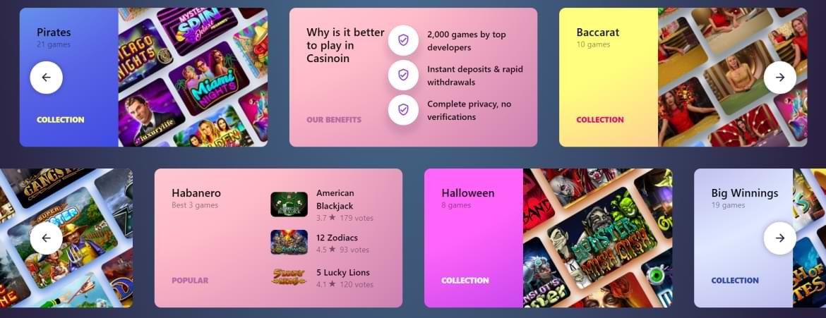 Casinoin Game Collection Sorted