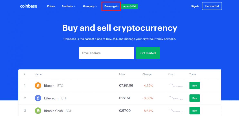 coinbase bitcoin faucet step 1