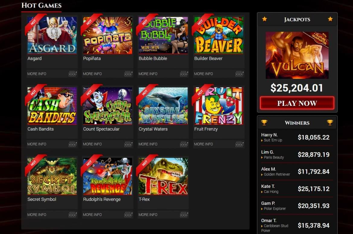 BoVegas Casino Review - Games' Section