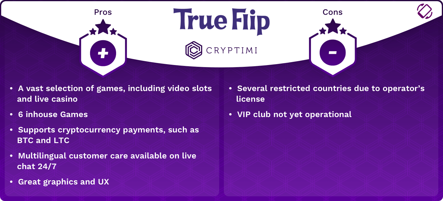 True Flip Pros and Cons Infographic