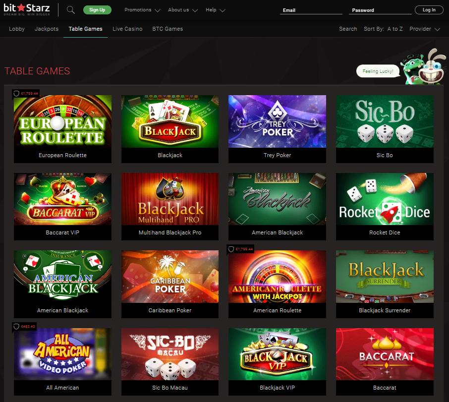 BitStarz Blackjack Games' Selection