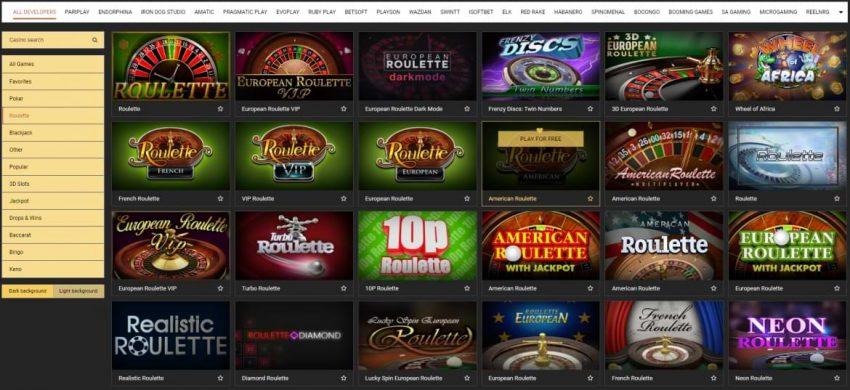 MelBet Casino Roulette Games