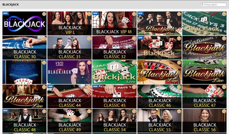 PlayAmo Casino Blackjack Games