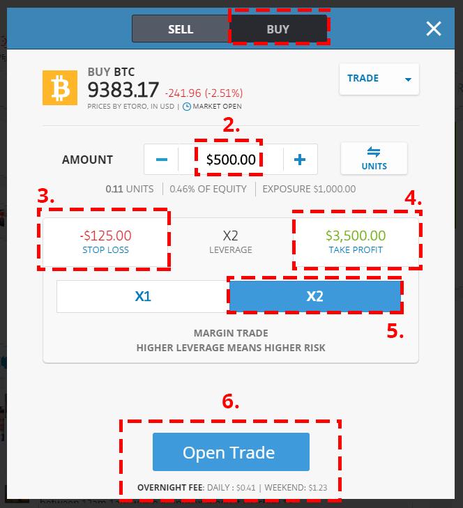 eToro - Buy Crypto Page