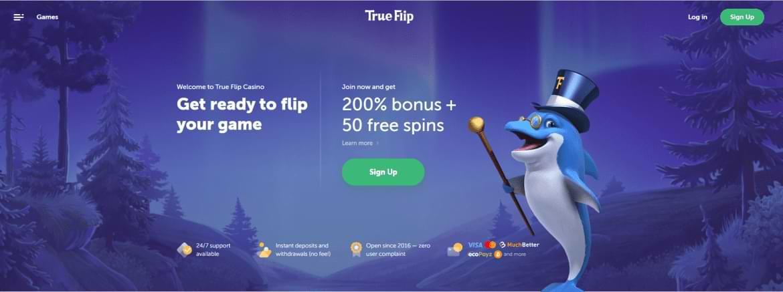 True Flip Landing Page - Bonusangebot