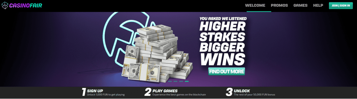 CasinoFair - Higher Stakes, Bigger Wins