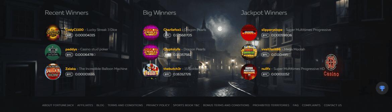 FortuneJack Casino - Big Winners