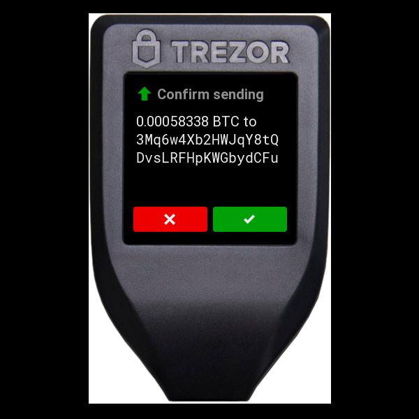 Trezor T Model Send Bitcoin