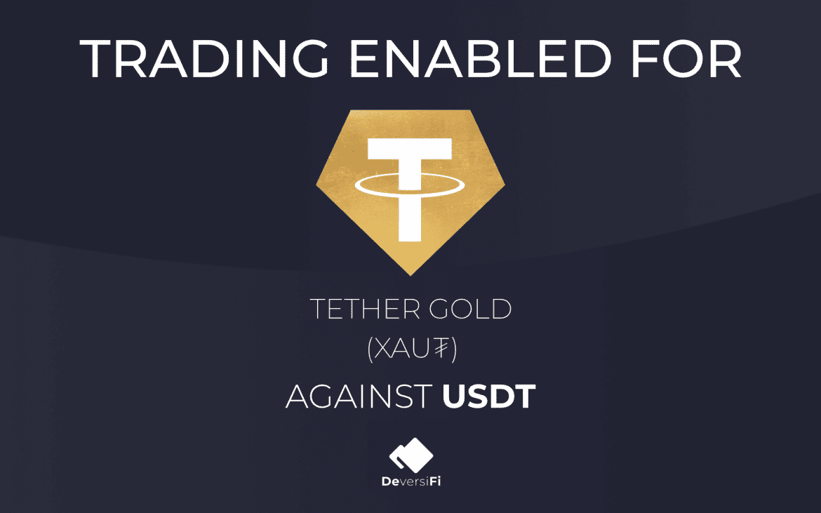 DeversiFi Have Listed Tether Gold (XAU₮) In World First Listing