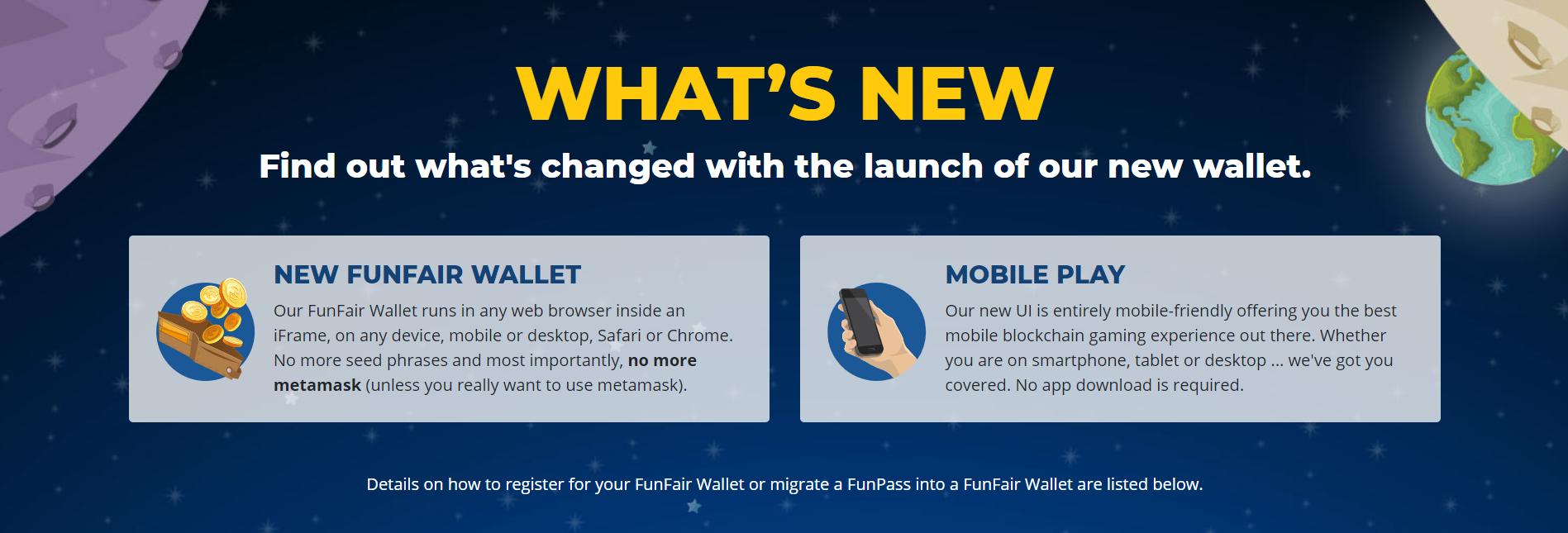 CryptoCasino FunFair Wallet Information