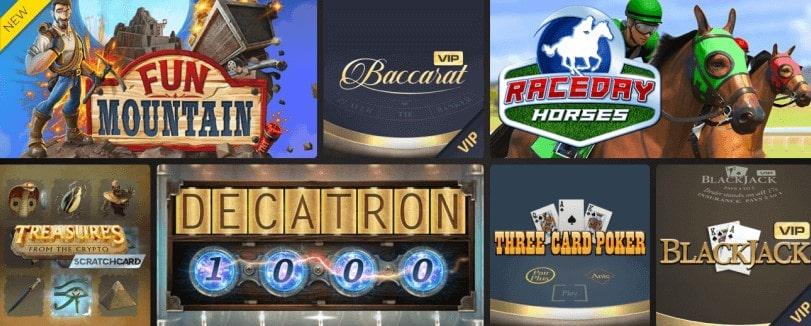 KingTiger Casino Review - Games Lobby
