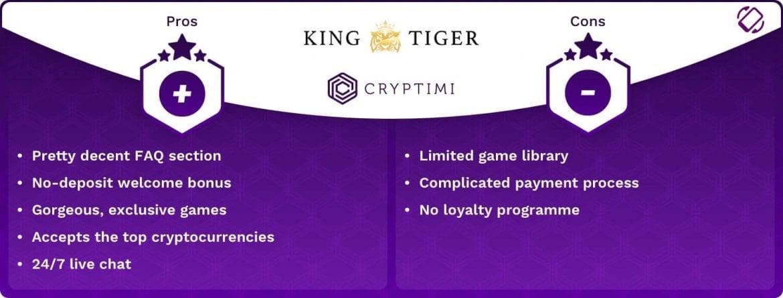 KingTiger Casino Review - Pros & Cons