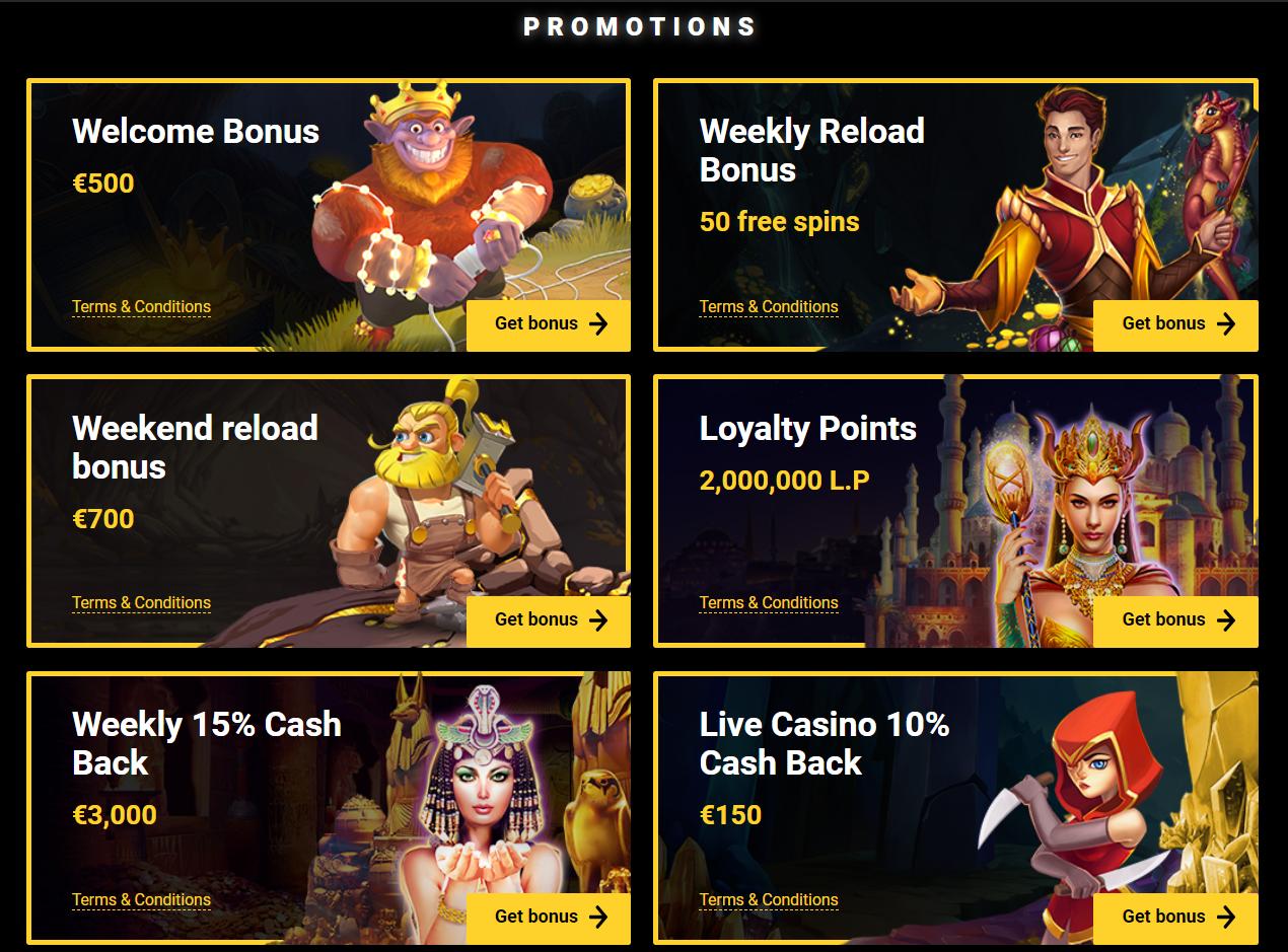 ZetCasino Promotions Page