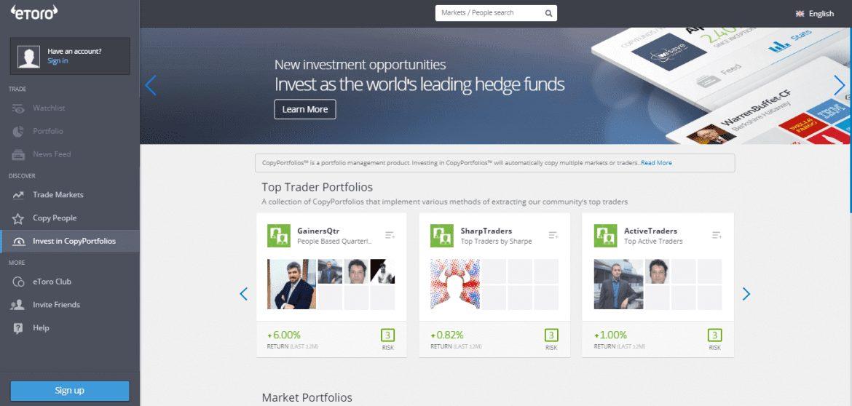 eToro - Copy Trading Portfolios
