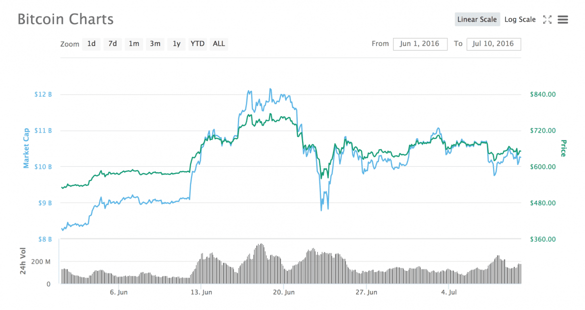 Yearlong Bitcoin Price Fluctuation Graph