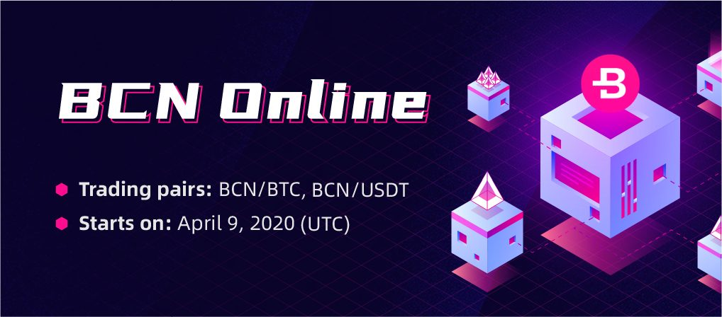 BCN Is Now Listed on CoinEx