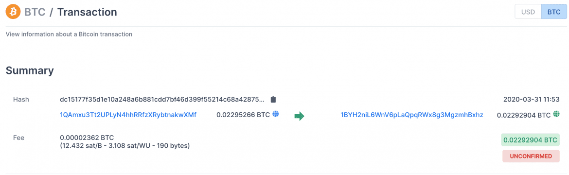 BTC Transaction