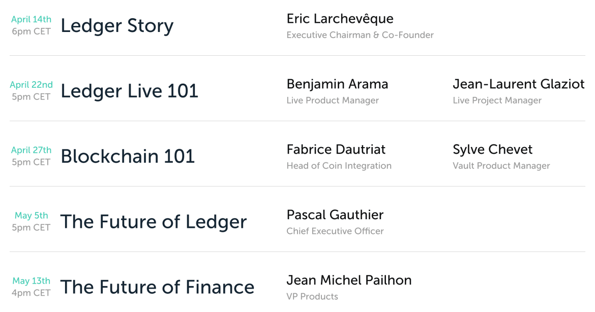 Ledger To Begin Weekly AMAs
