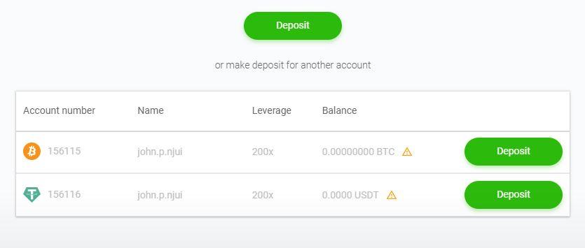Deposit Page