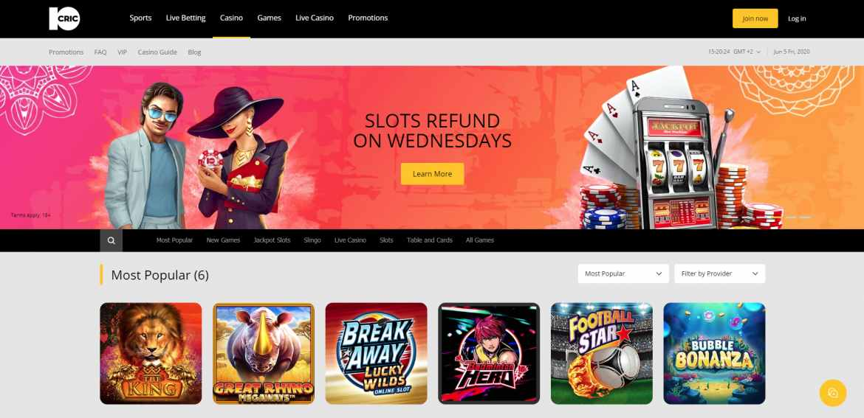 10Cric Casino Landing Page