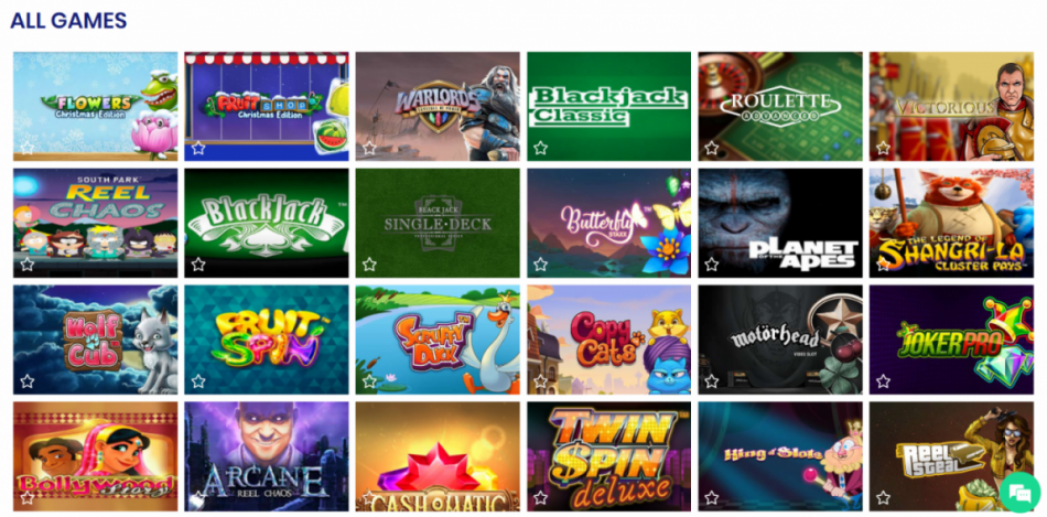 CasinoBTC Game Library