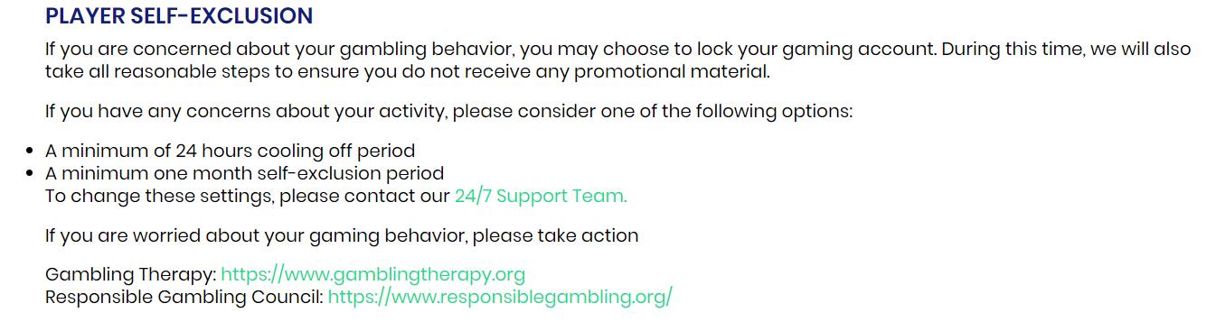 CasinoBTC Responsible Gaming