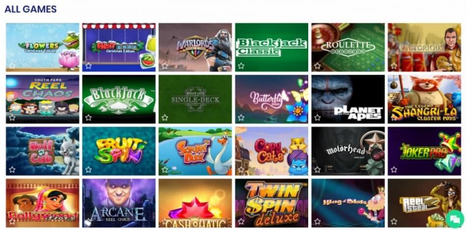 CasinoBTC - Game Library