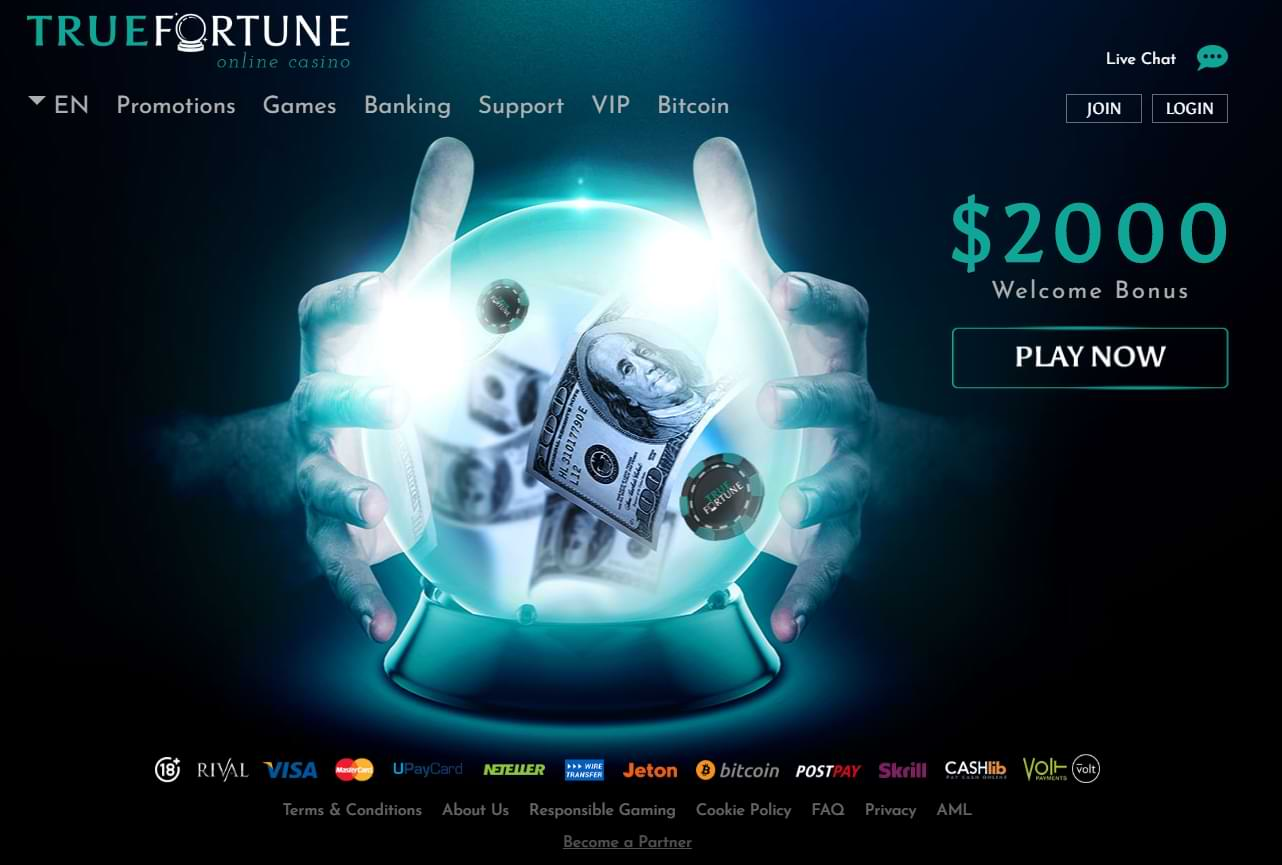 True Fortune Home Screen