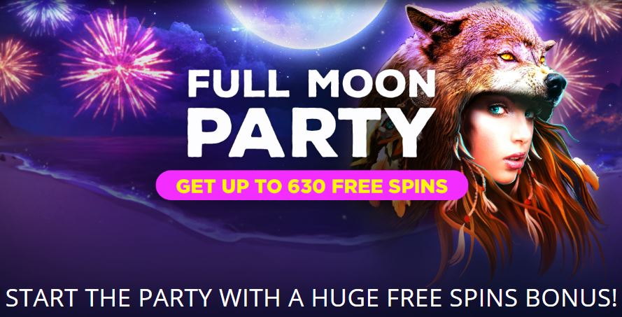 Full Moon Party All Weekend at Bitstarz