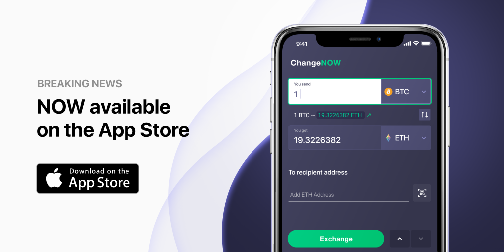 ChangeNOW Launch IOS App