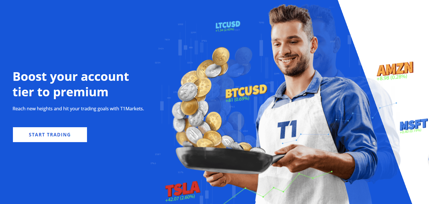 T1Markets Landing Page