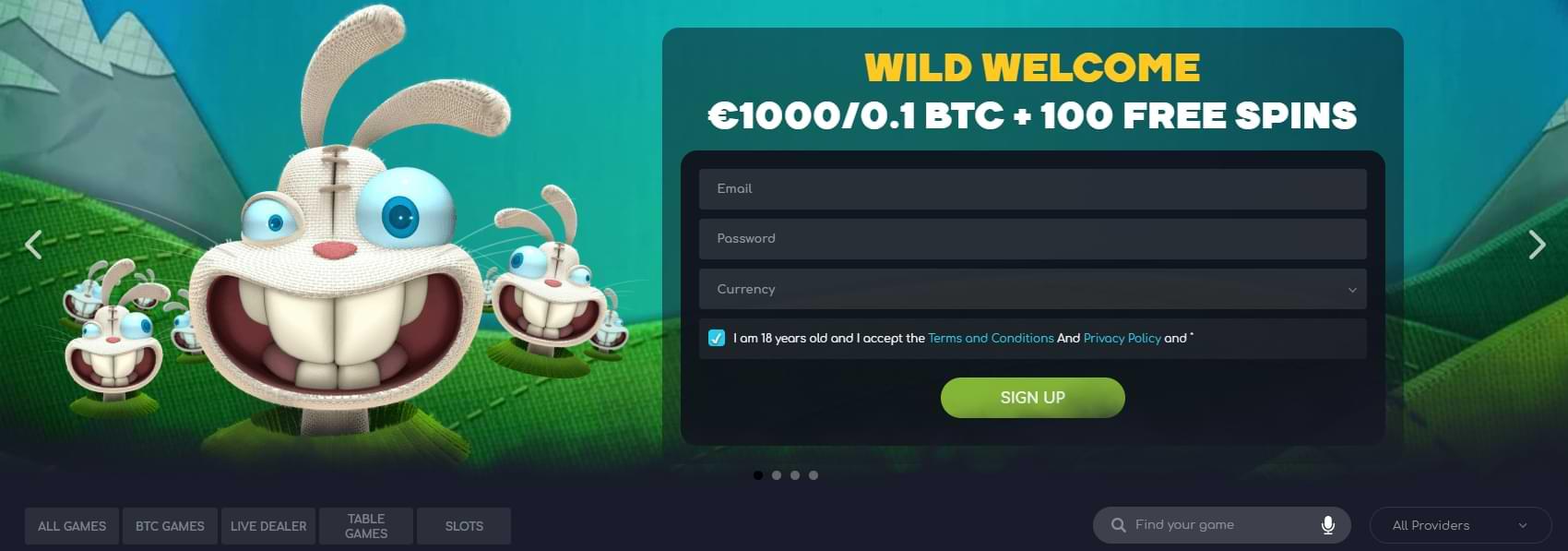 wildtornado welcome offer