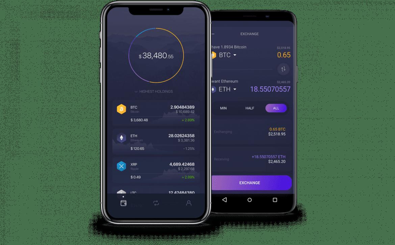Exodus wallet on mobiles