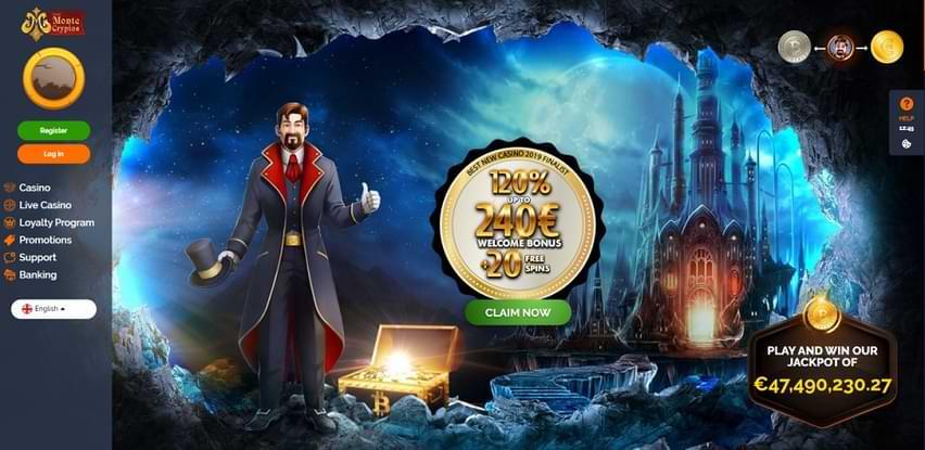 Montecryptos Casino Offers €45,000 Prize Pool