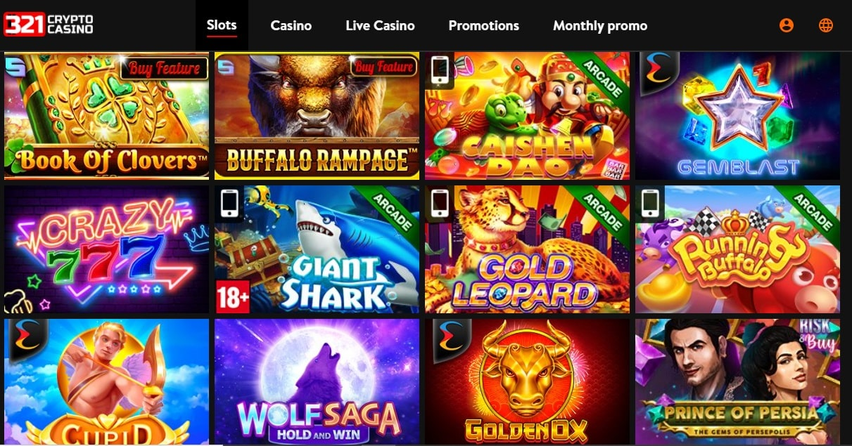 321 Crypto Casino Games