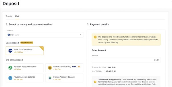 How to buy Bitcoin with a bank account - Binance
