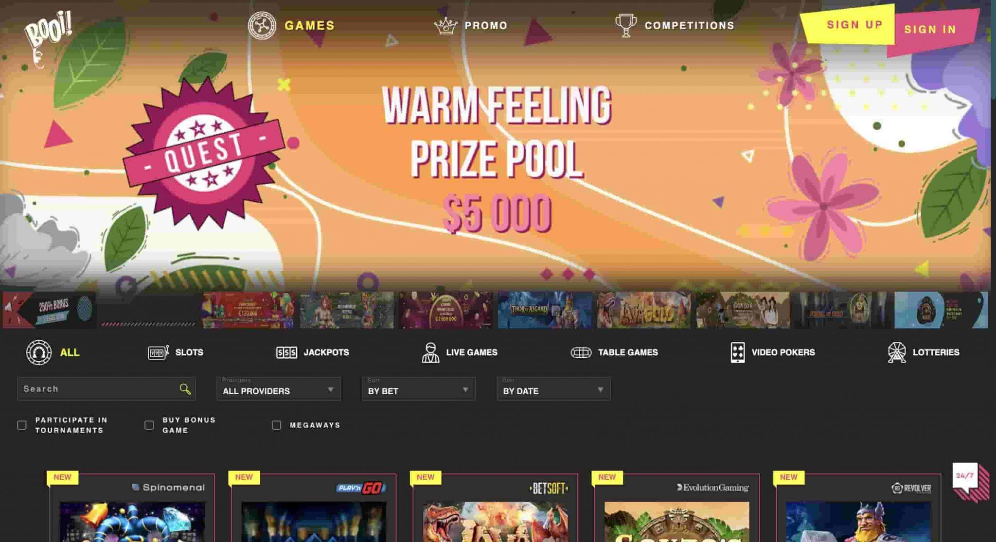Booi Casino Review