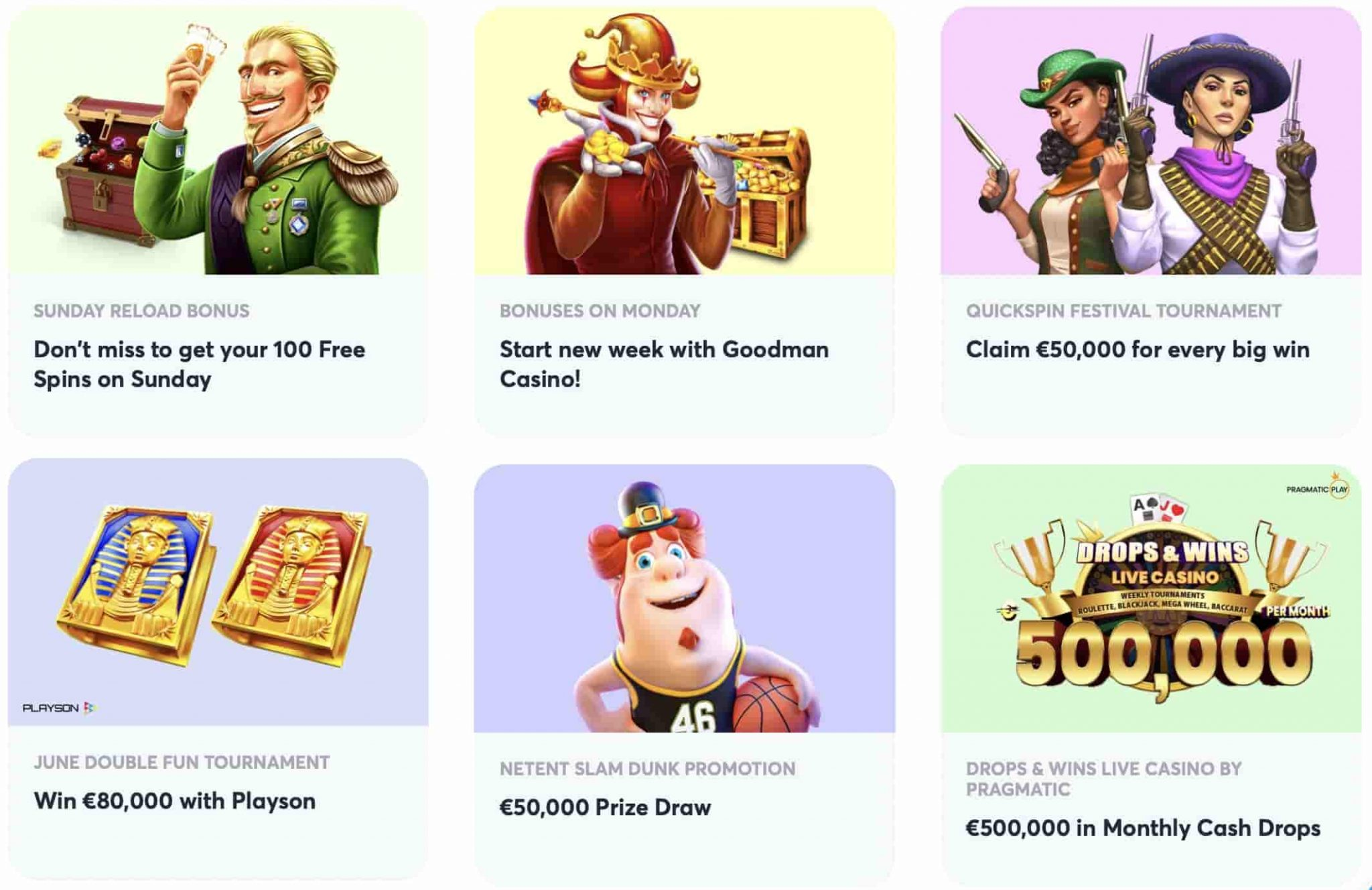 Goodman Casino Ongoing Promotions
