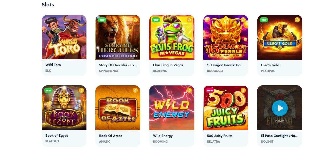 goodman casino first slots selection