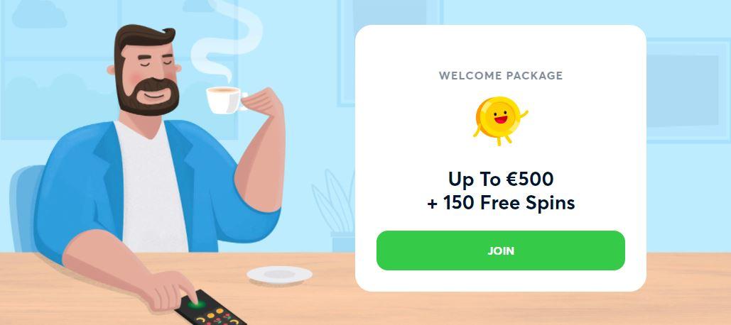 goodman casino landing page with welcome bonus showing