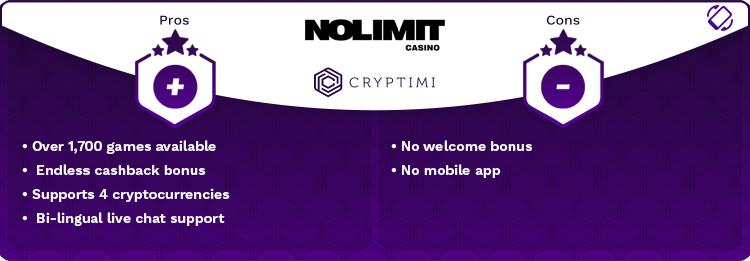 no limit casino pros and cons infographic