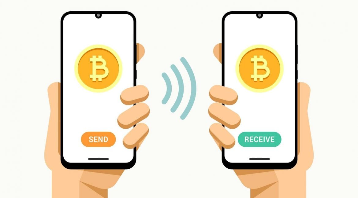 sending and receiving bitcoin on mobile phones