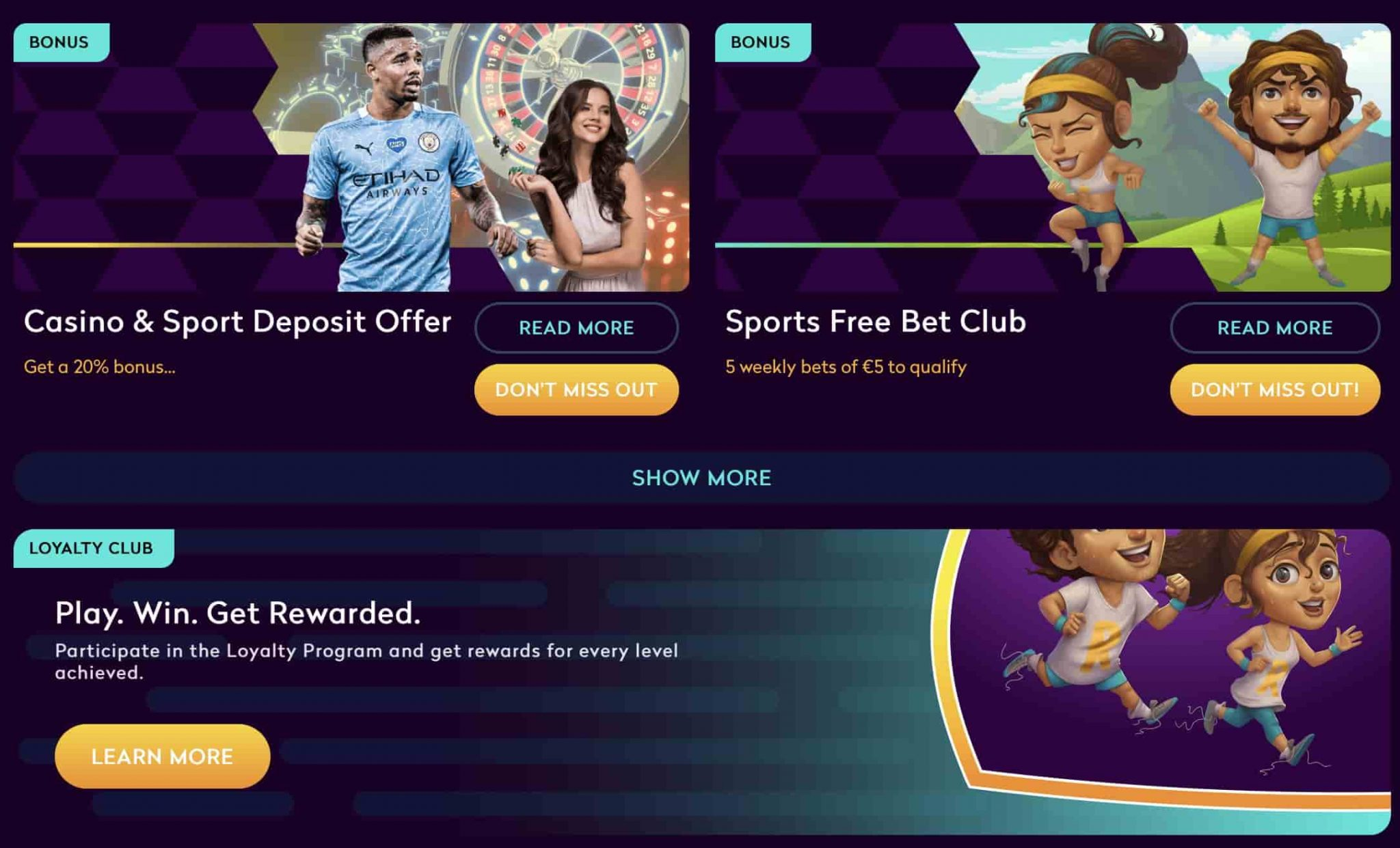 Casino360 Ongoing Offers