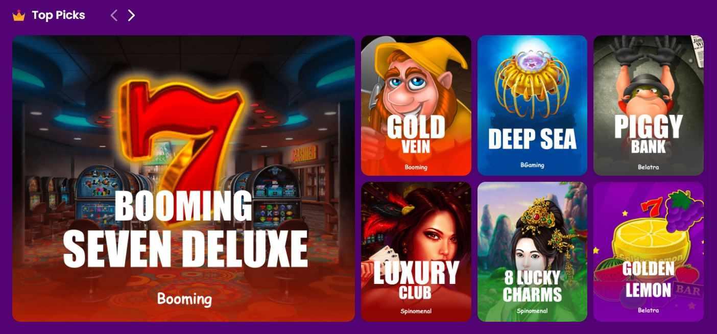 TrustDice casino top picks games